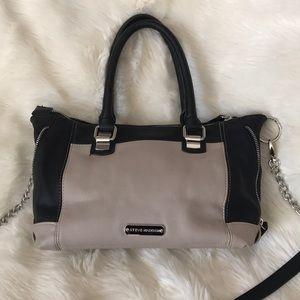 Steve Madden Black & beige bag w/ strap & handles